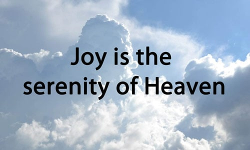 Joy and Heaven