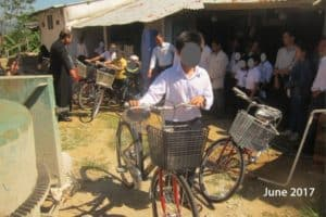 Student With Bicycle