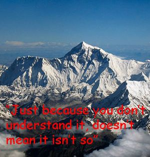 "Quote: ""Just because you don't understand..."""
