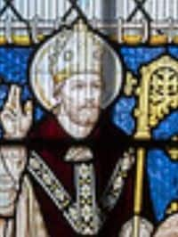 Stain Glass Window image of St Egwin of Evesham