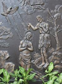 Bronze image of John Baptizing Jesus