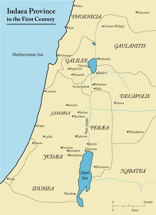Map of First Century Iudaea