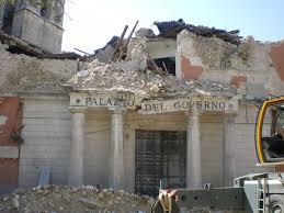 Earthquake damaged buildings