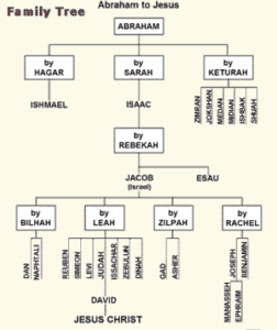Abraham to Jesus - Family Tree