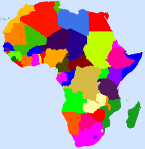 Coloured Map of Africa