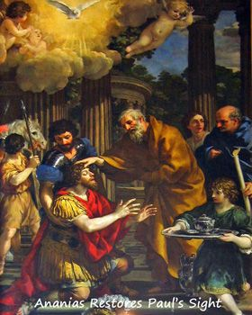 Ananias restores St Paul's sight