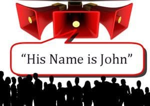 "Announcement: ""His name is John"""