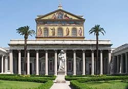 Basilica of St Peter + St Paul statue]