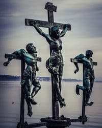 Calvary: Crucifixion of Jesus and Two Thieves