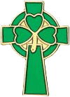 Small Celtic Cross with Shamrock at it's Centre.