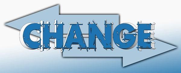 Sign: Change