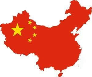 Outline map of China