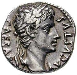 Coin with Caesar's portrait