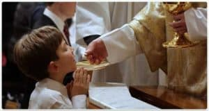 Child Receiving Communion