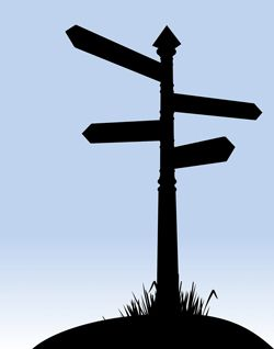 Signpost: Roadway directions
