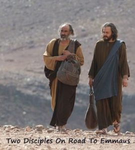 Two disciples on the road to Emmaus