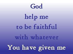 Faith Prayer