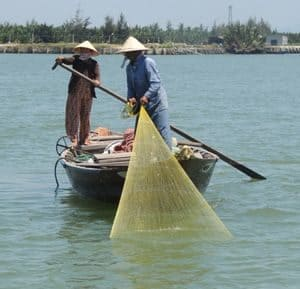 Net fishers in Vietnam
