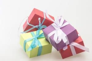 Colourful gift boxes