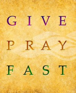 Slogan: Give, Pray, Fast