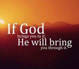 "Quote: ""If God brings you..."""