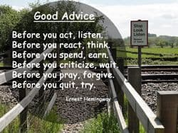 "Good Advice Quote: ""Before you..."""