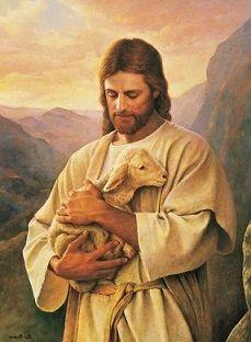 """Jesus"" holding a Lamb"