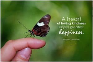 "Quote: ""A heart of loving..."""