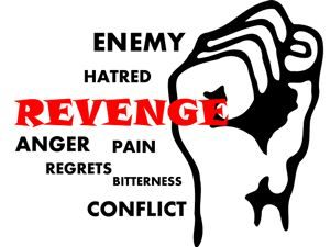 Fist with hatred associated words: Anger, Enemy...