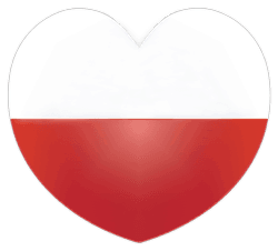 Sketch of Heart, half red and half white