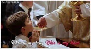 Receiving of The Holy Eucharist