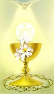Holy Eucharist, chalice and host