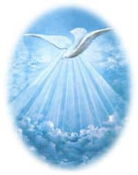 Dove depicting the Holy Spirit
