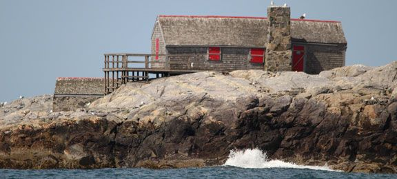 House built on rock by the sea