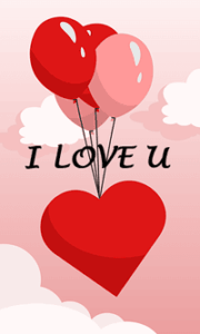 Red balloons and Heart