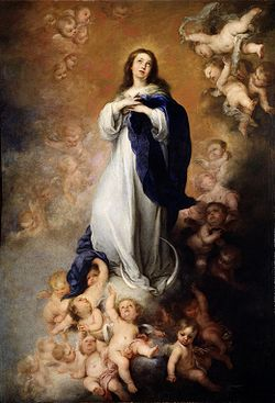Image of the Blessed Virgin Mary surrounded by Angels