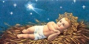 Image of Jesus in a manger.