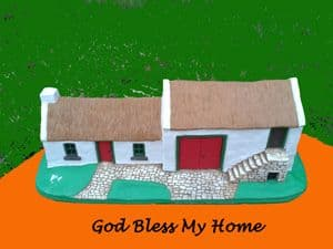 Small Irish Cottage Model