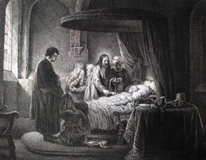 Jesus raises Jairus' daughter