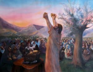 Jesus blesses the food
