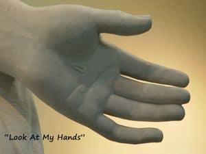 Jesus' pierced hand