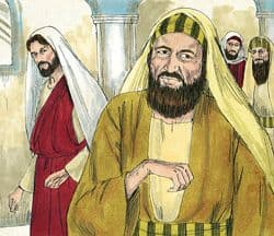 Sketch of Jesus and the man with the withered hand