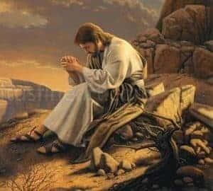 Image of Jesus Praying