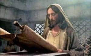 Jesus reading from Scroll