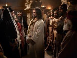 Jesus at His trial