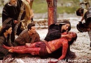 Jesus, having been taken down from His Cross