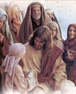 Image of Jesus surrounded by children