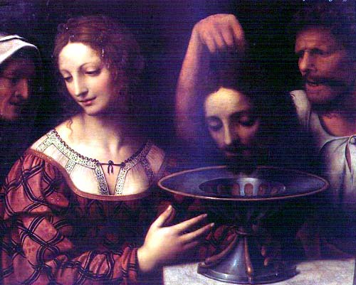 John the Baptists severed head on a plate.