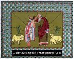 Abraham with Joseph wearing his coat of many colours