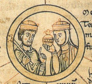 Sketch of King Henry & St Matilda
